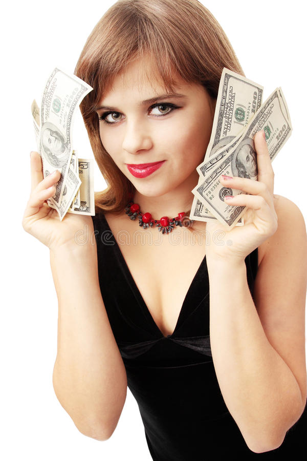 Houdt het geld royalty-vrije stock fotografie