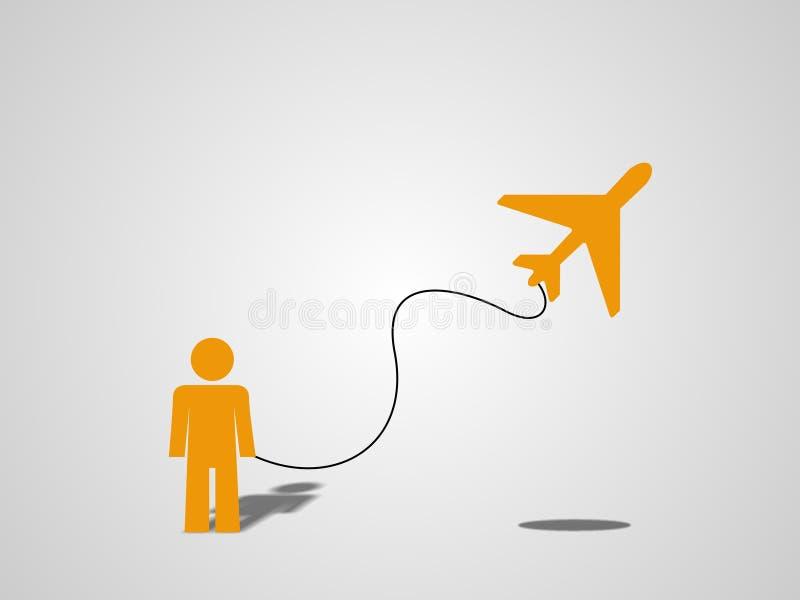 Houdt u van mijn vlieger? vector illustratie