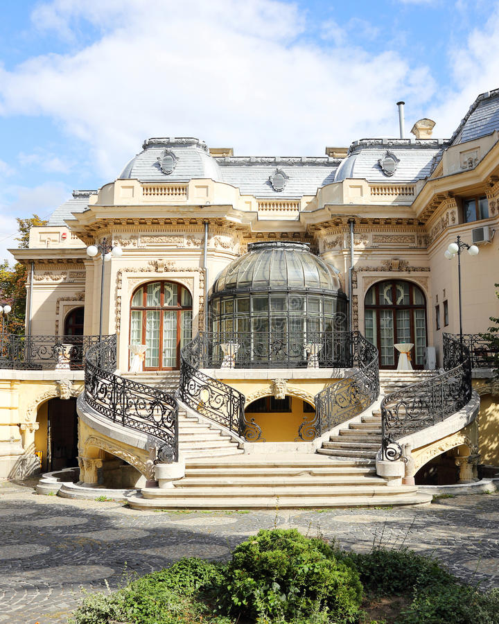 Houes Bucarest de los científicos imagen de archivo libre de regalías