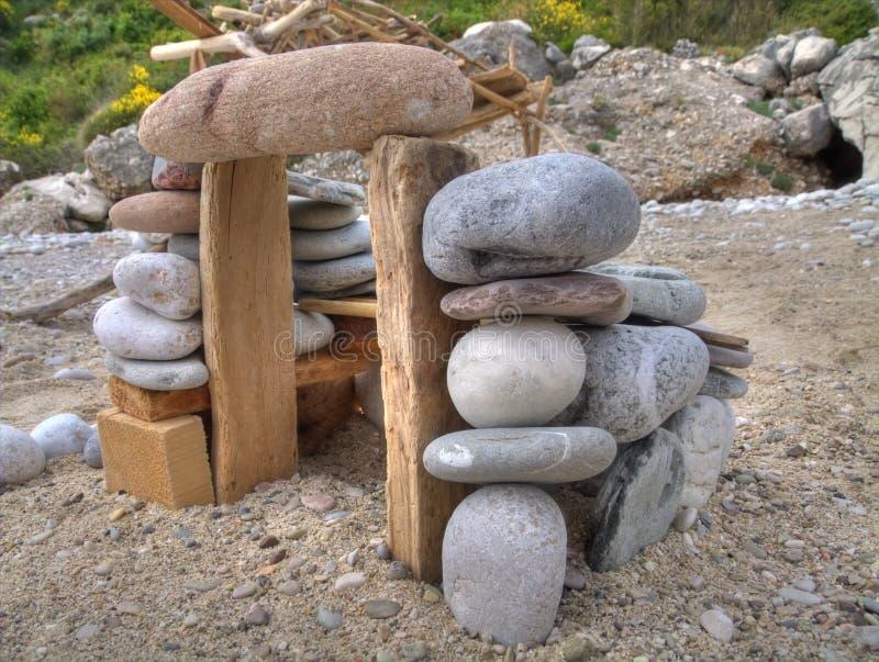 houes plażowy kamień zdjęcia stock