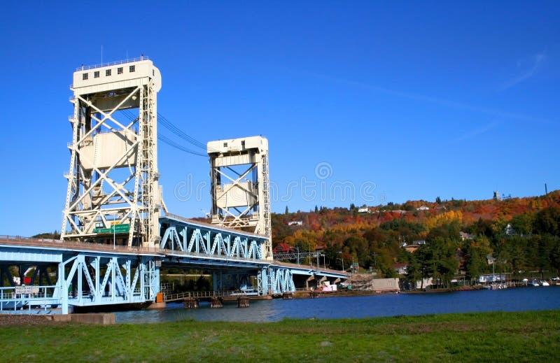 Houghton Hancock Bridge stock photo