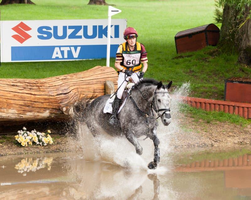 Houghton international horse trials Annie Bellamy riding Grafik. HOUGHTON, NORFOLK/ENGLAND - May 25th 2017: Houghton International Horse Trials 2017 Annie stock images