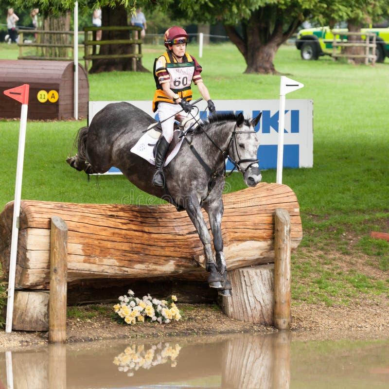 Houghton international horse trials Annie Bellamy riding Grafik. HOUGHTON, NORFOLK/ENGLAND - May 25th 2017: Houghton International Horse Trials 2017 Annie royalty free stock image