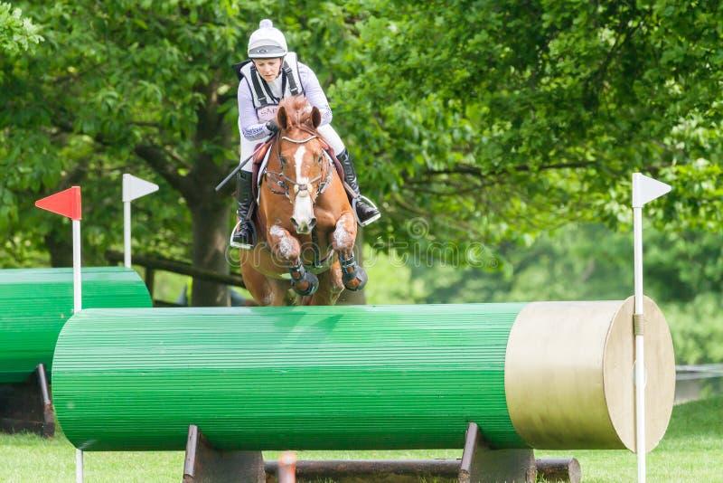 Houghton international horse trials Gemma Tattersall riding Chilli Knight. HOUGHTON, NORFOLK/ENGLAND - May 25th 2017: Houghton International Horse Trials 2017 stock images