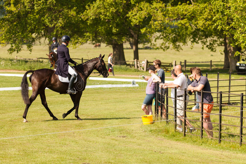Houghton international horse trials May 2017. HOUGHTON, NORFOLK/ENGLAND - May 25th 2017: Houghton International Horse Trials 2017 Including cross country stock photos