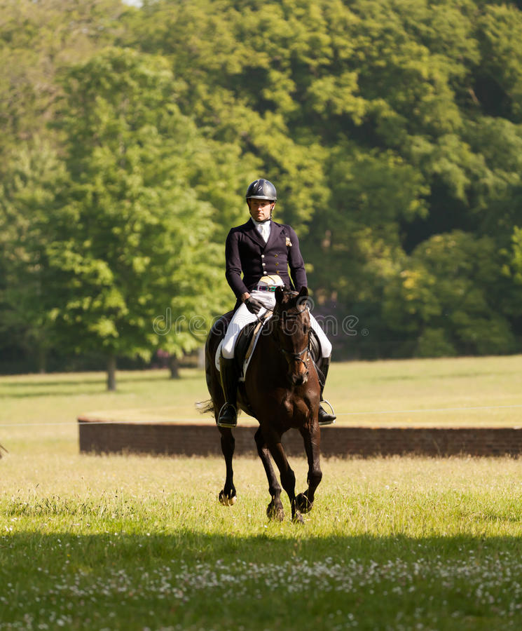 Houghton international horse trials May 2017. HOUGHTON, NORFOLK/ENGLAND - May 25th 2017: Houghton International Horse Trials 2017 Including cross country royalty free stock photos