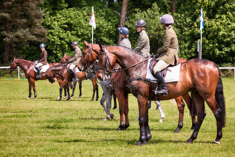 Houghton international horse trials May 2017. HOUGHTON, NORFOLK/ENGLAND - May 25th 2017: Houghton International Horse Trials 2017 Including cross country royalty free stock images