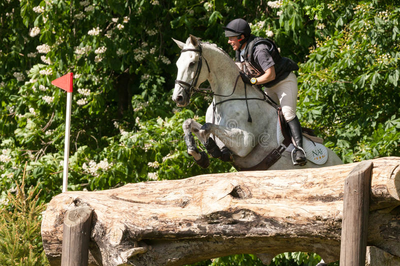 Houghton international horse trials May 2017. HOUGHTON, NORFOLK/ENGLAND - May 25th 2017: Houghton International Horse Trials 2017 Including cross country royalty free stock photo