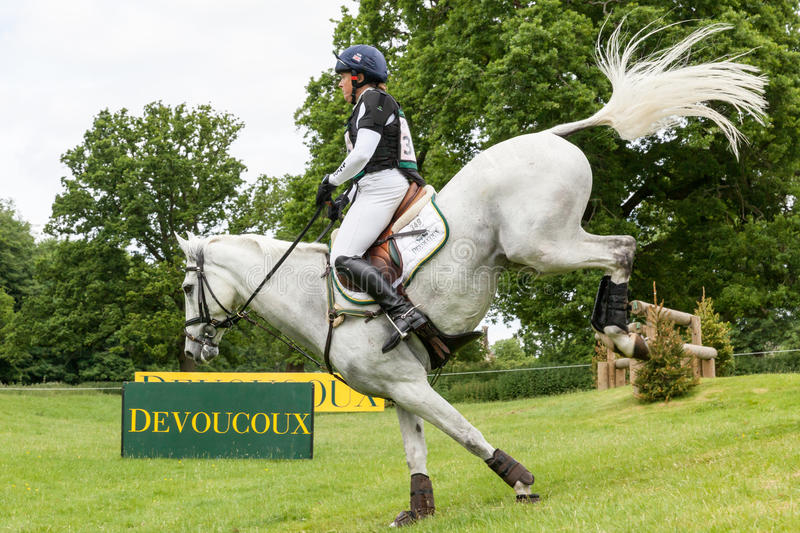 Houghton international horse trials May 2017. HOUGHTON, NORFOLK/ENGLAND - May 28th 2017: Houghton International Horse Trials 2017 Pippa Funnell riding Billy The stock photos
