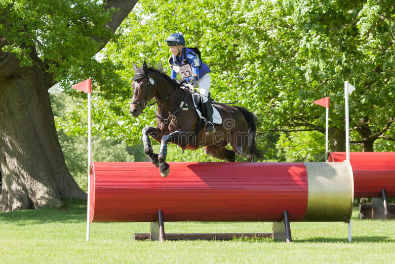 Houghton international horse trials Zoe Wilkinson riding Craignure. HOUGHTON, NORFOLK/ENGLAND - May 25th 2017: Houghton International Horse Trials 2017 Zoe stock photography