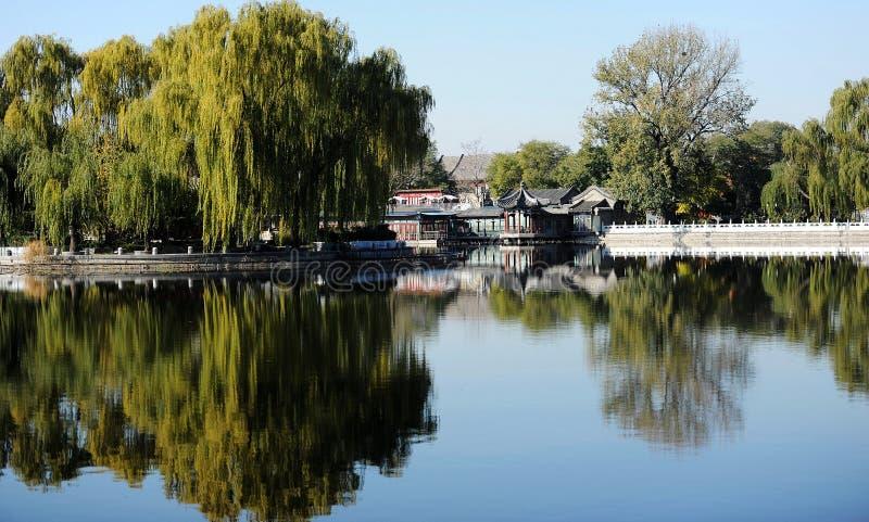 Houhai See, Peking lizenzfreies stockbild