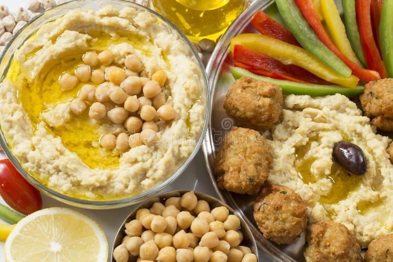 Houmous et falafel images libres de droits