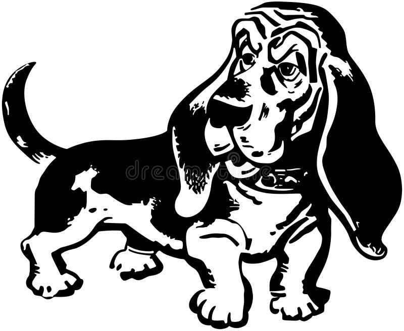 Hound de Basset ilustração stock