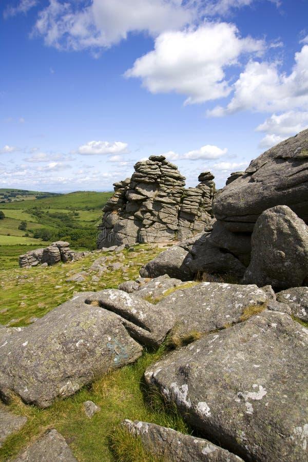 Hound Tor, Dartmoor, Devon stock photography