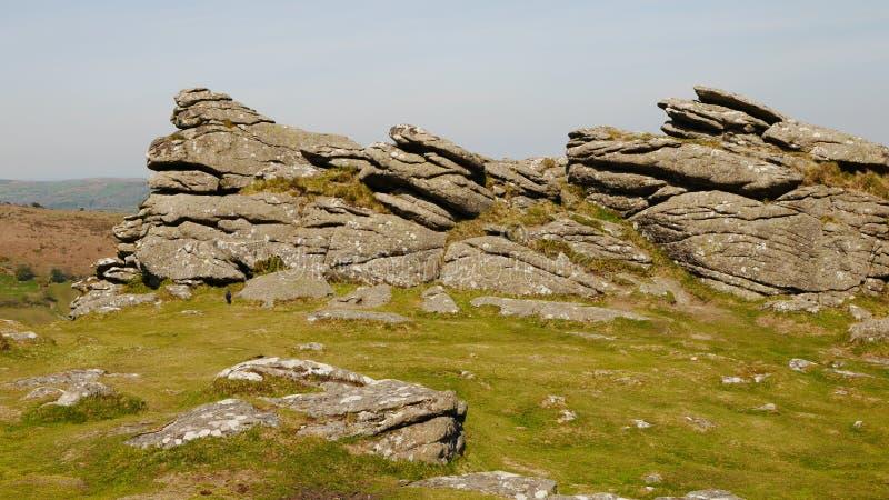 Hound Tor Rocks royalty free stock photos