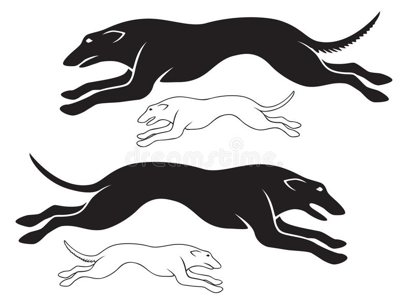 Hounds. The figure shows the hounds vector illustration