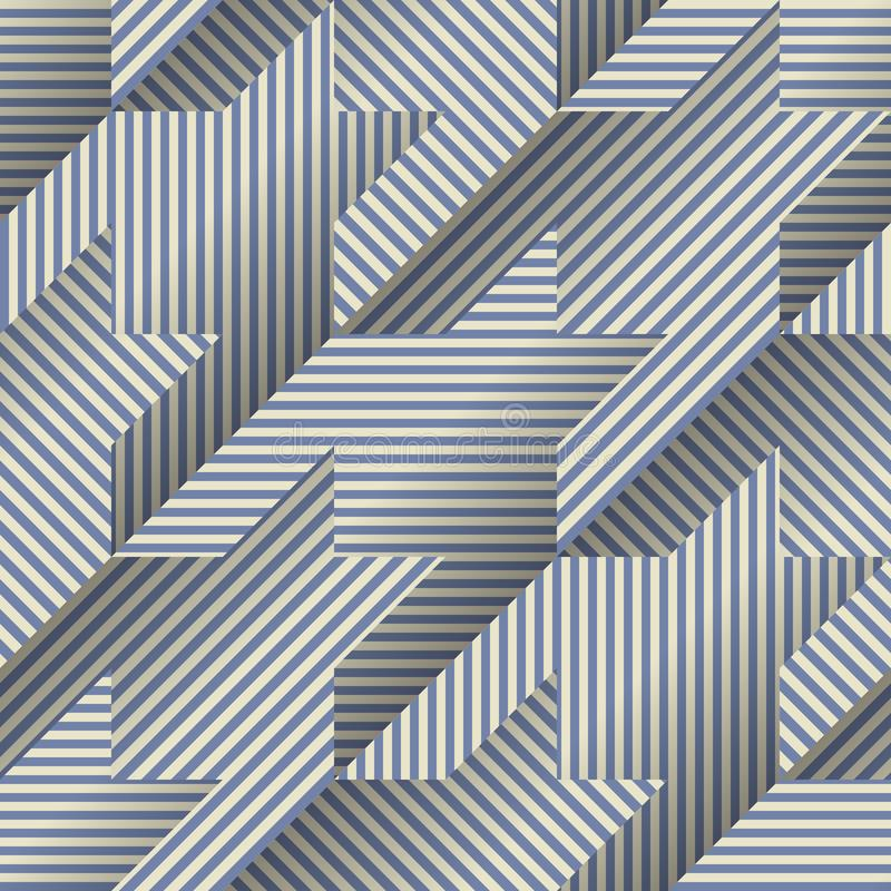 Hounds-tooth pattern in abstract low poly geometric style. Seamless background pattern. Hounds-tooth pattern in abstract low poly geometric style stock illustration