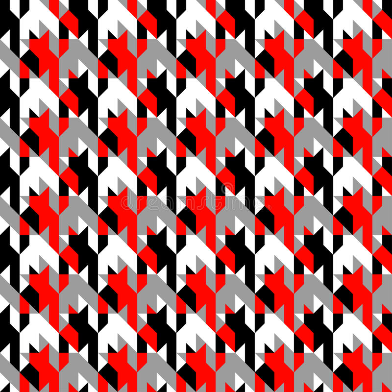 Hounds-tooth patterns in classic colors vector illustration