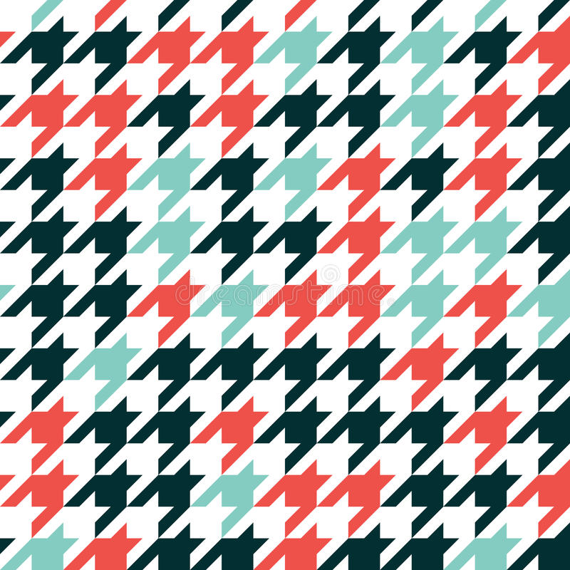 Hounds tooth - retro geometric pattern for clothing fashion. Sea royalty free illustration
