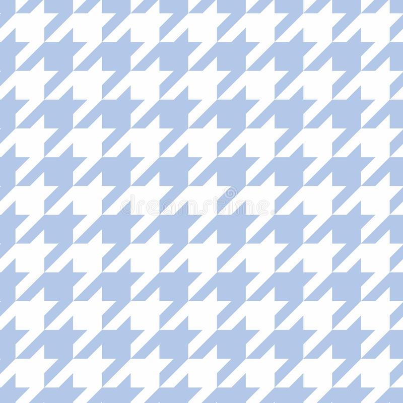 Hounds tooth seamless blue vector pattern. vector illustration