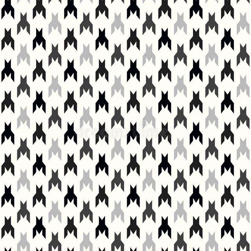 Hounds-tooth seamless vector pattern. Geometric print in black and white color . Classical English background Glen plaid vector illustration