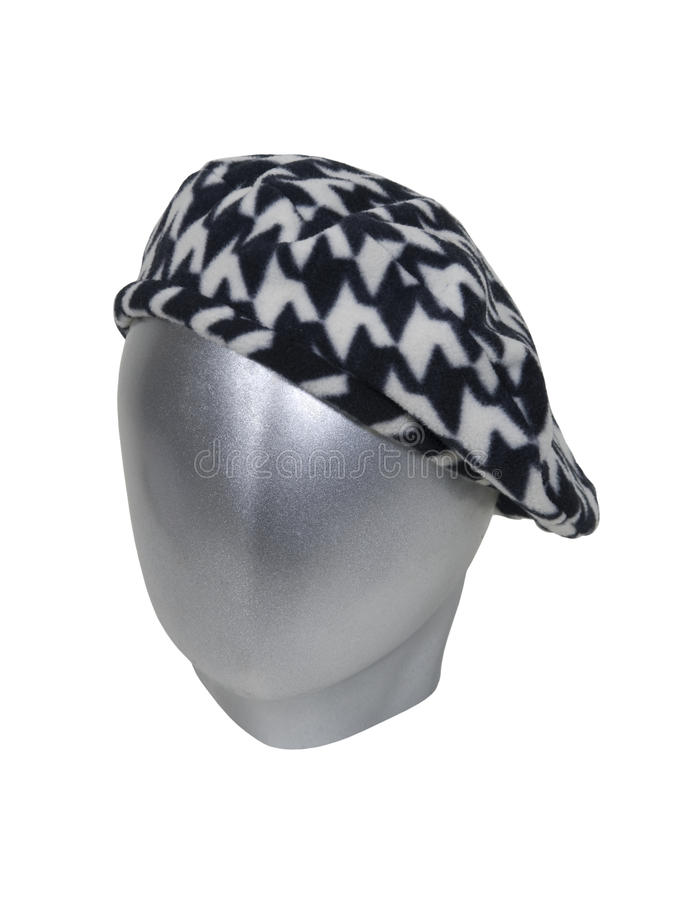 Houndstooth Beret royalty free stock photos