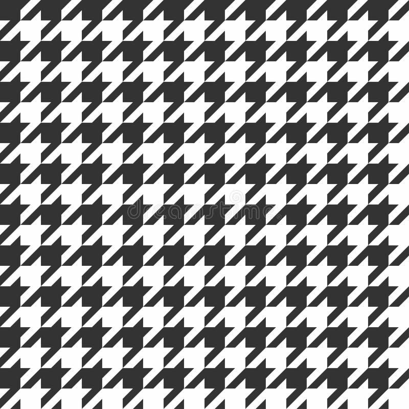 houndstooth bezszwowy deseniowy Rocznik tkaniny tekstura klasyczna moda ilustracji