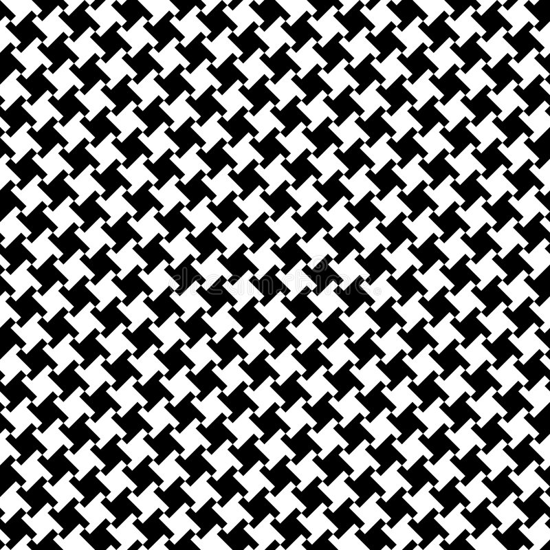 Houndstooth_Black-White stock afbeelding