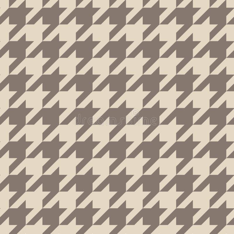 Houndstooth brązu bezszwowy wektorowy wzór lub płytki tło ilustracja wektor