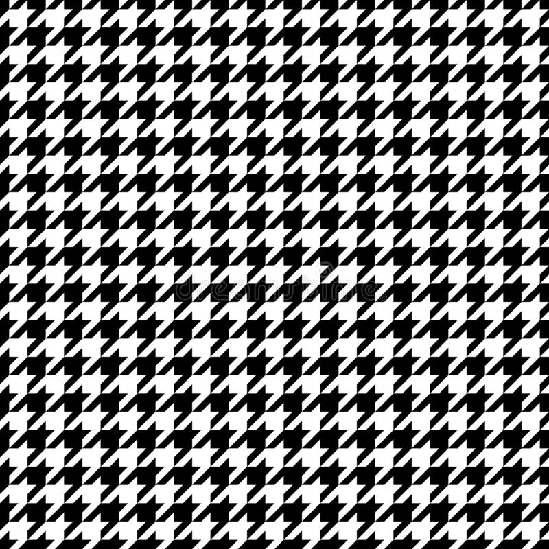 Houndstooth gráfico sem emenda modela preto e branco ilustração royalty free