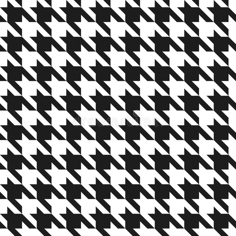 Houndstooth Muster stock abbildung