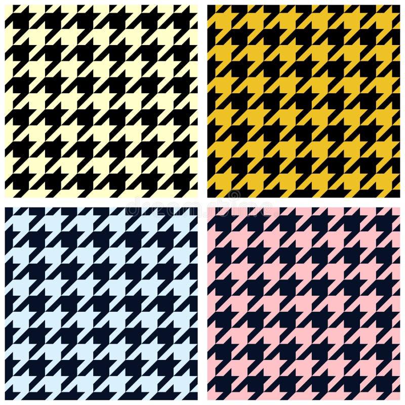 Houndstooth nahtloses Muster vektor abbildung