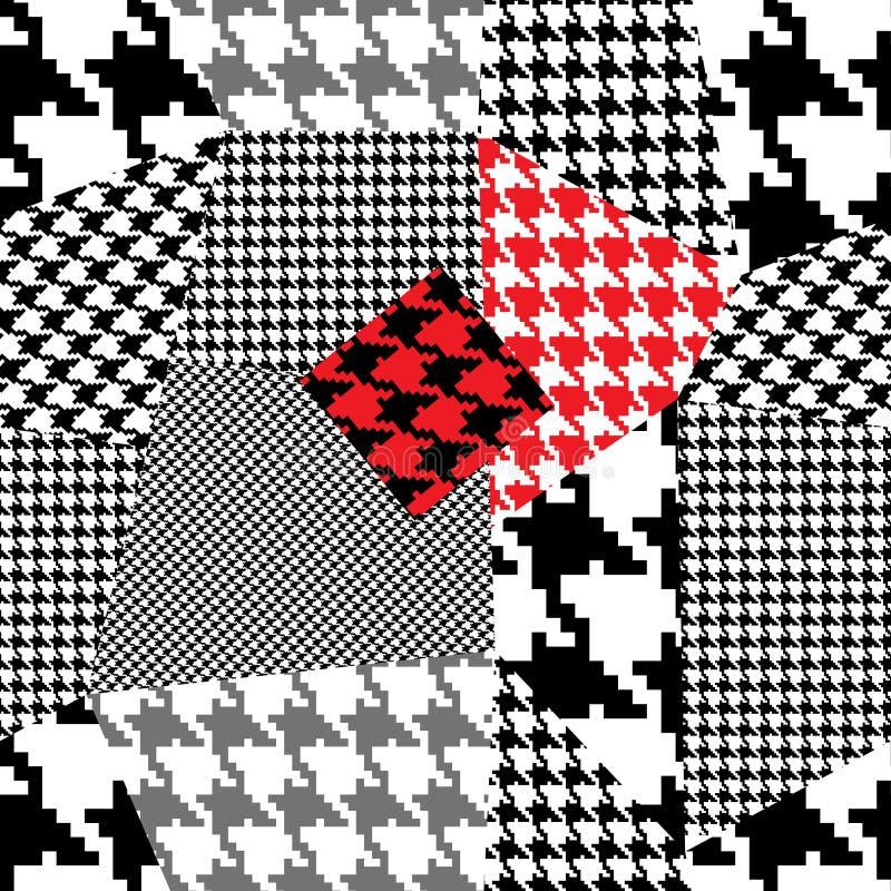 houndstooth patchwork ilustracja wektor