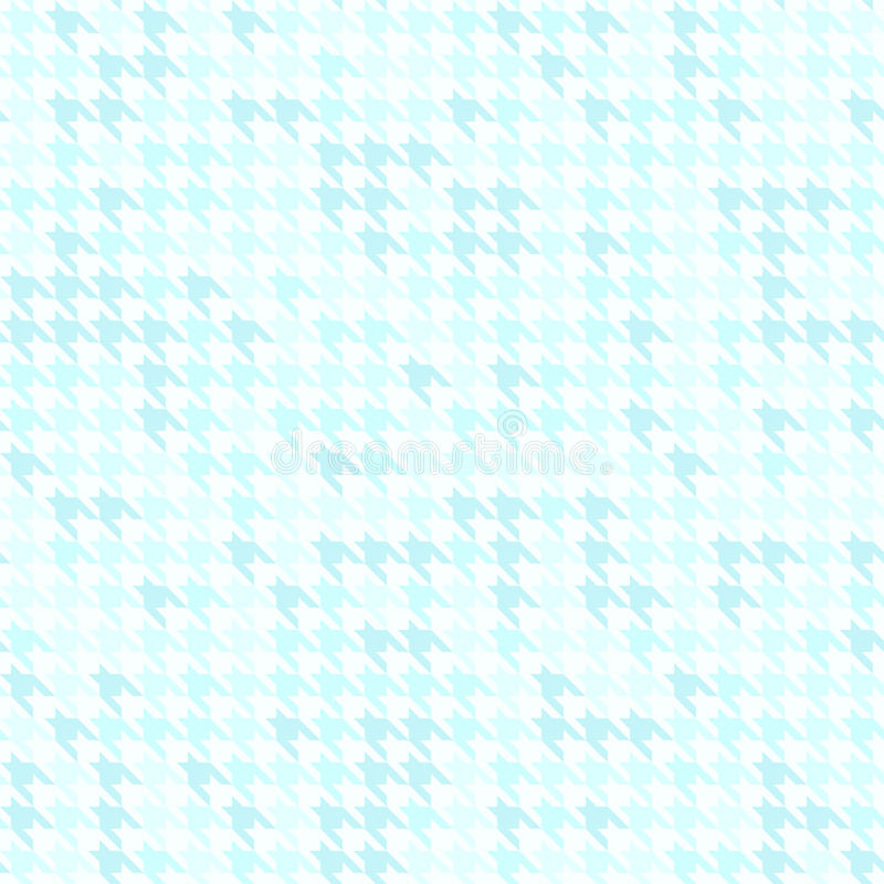 Houndstooth pattern. Cyan seamless vector background stock illustration