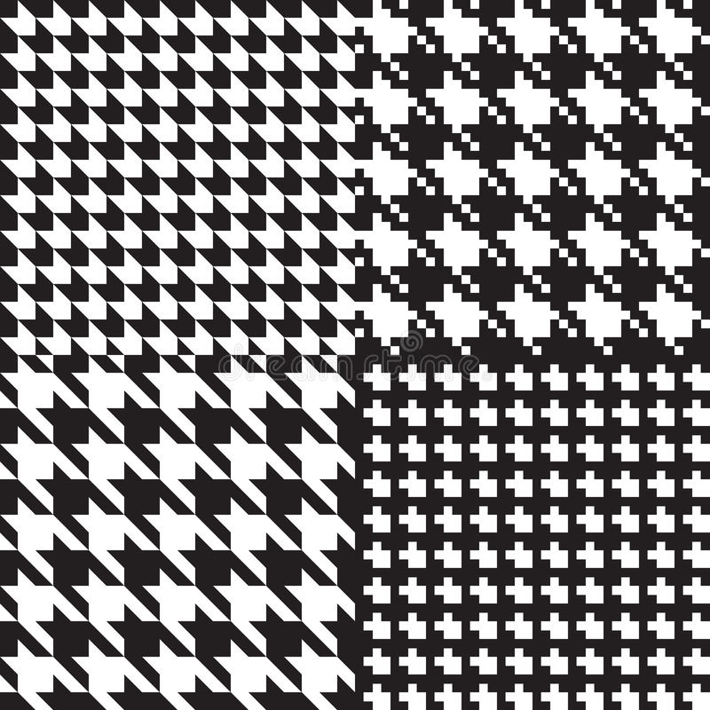 Houndstooth patterns royalty free illustration