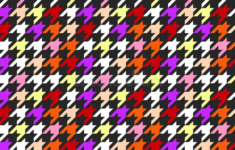 Houndtooth checked seamless pattern background. vector illustration