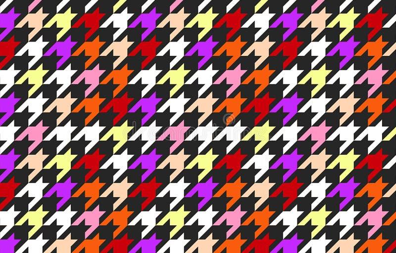 Houndtooth controleerde naadloze patroonachtergrond vector illustratie