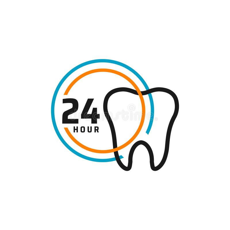 24 Hour Dental Care Service Vector Icon. Day/night Services Button Symbol. Illustration Of 24/7 Sign Stock Vector - Illustration of dentist, symbol: 165803227