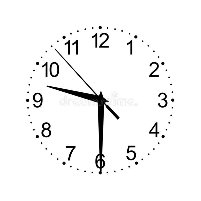 Hour dial on a white background royalty free stock photo