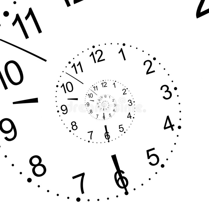 Hour dial on a white background stock photography