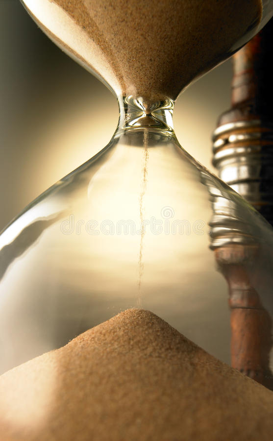 An hour glass royalty free stock photo