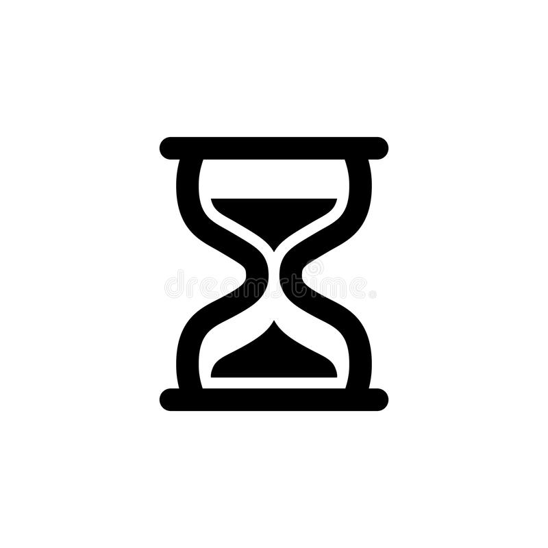 Hour Glass Icon. Variant No. 2 stock illustration