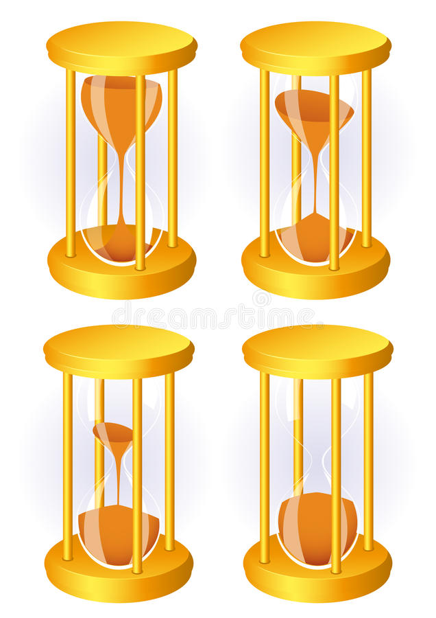 Hour glass set vector illustration