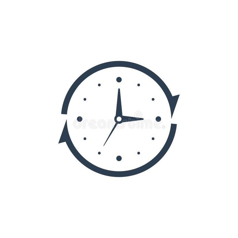 24 hour service support icon. Clock icon vector stock illustration