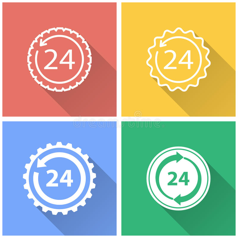 24 hour service - vector icon. royalty free illustration