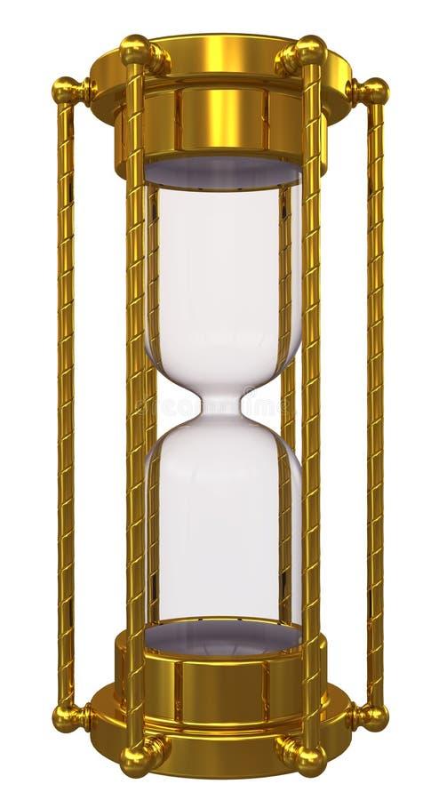 hourglass золота отсутствие песка иллюстрация вектора