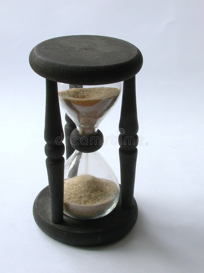 Download Hourglass stock photo. Image of glass, sand, second, black - 6572