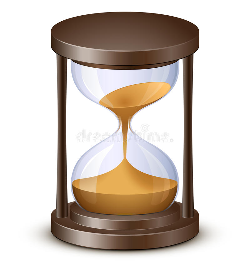 Download Hourglass stock vector. Image of countdown, hand, process - 18924681
