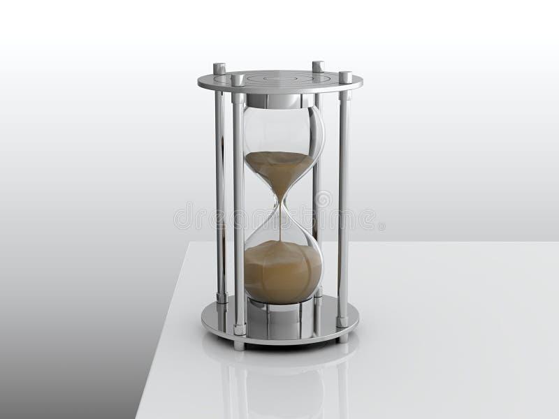 Download Hourglass stock illustration. Image of black, glass, full - 24897421