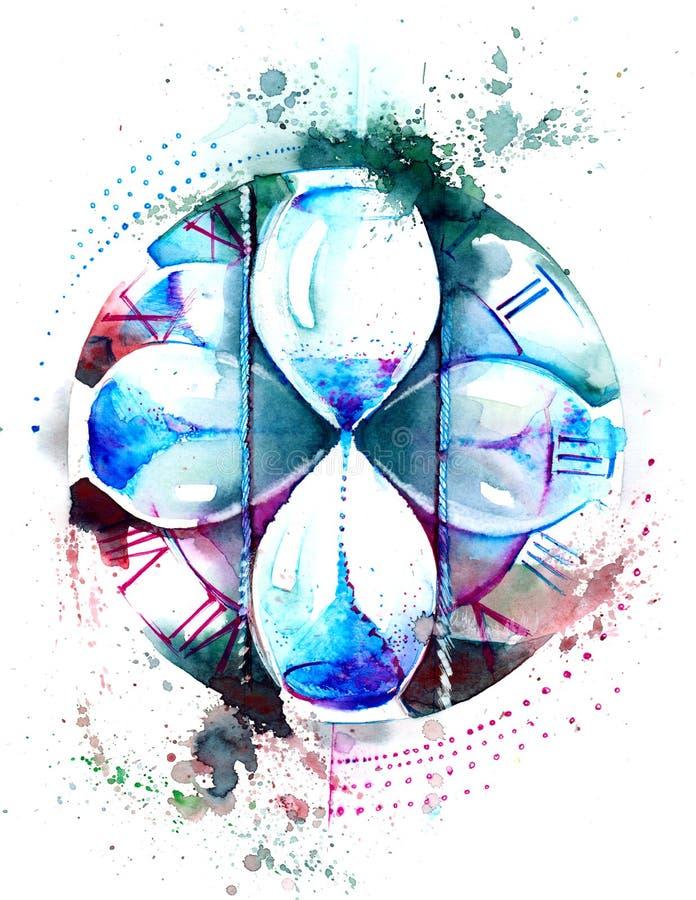 hourglass иллюстрация вектора